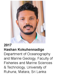 HASHAN KOKUHENNADIGE Department of Oceanography and Marine Geology, Faculty of Fisheries and Marine Sciences & Technology, University of Ruhuna, Matara, Sri Lanka